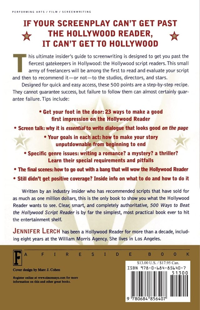30 Ways to Beat the Hollywood Script Reader: Writing the