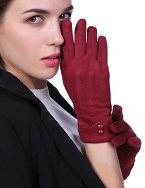 Image result for women cool winter winter gloves amazon red