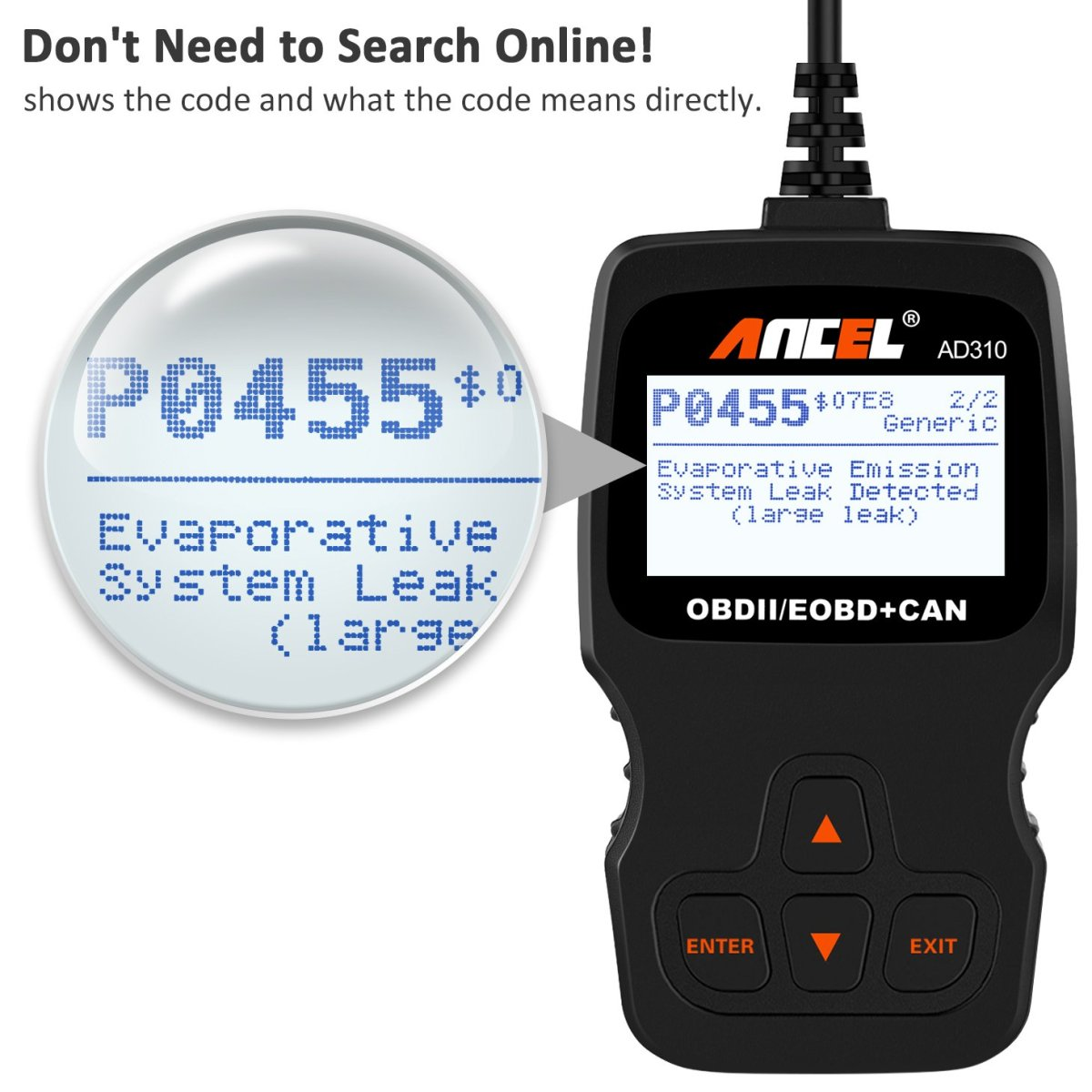 How to Use Car Scanner  ANCEL AD310 Classic Enhanced Universal OBD II Scanner
