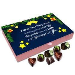 Chocholik New Year Chocolate Box – I Wish You A Very Sweet and Prosperous New Year Chocolate Box – 12pc