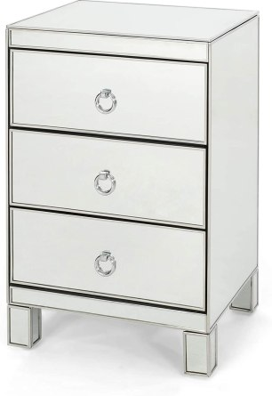 Christopher Knight Home Hedy Modern Mirrored 3 Drawer Cabinet