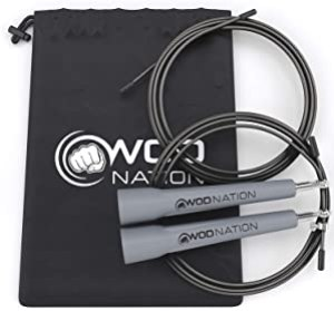 Best Jump Ropes for Boxing - WOD Nation Speed Jump Rope - Blazing Fast Jumping Ropes