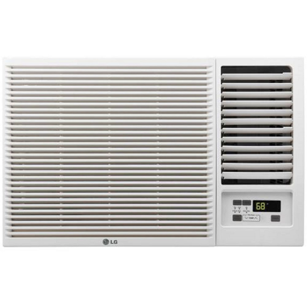 LG 7,500 BTU Window Air Conditioner with Supplemental Heat, Cools 320 Sq.Ft. (16' x 20' Room Size), Electronic Controls with Remote, 2 Cooling, Heating & Fan Speeds, Slide In-Out Chassis, 115V