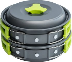 Liter Camping Cookware Mess Kit - Camp Accessories Equipment