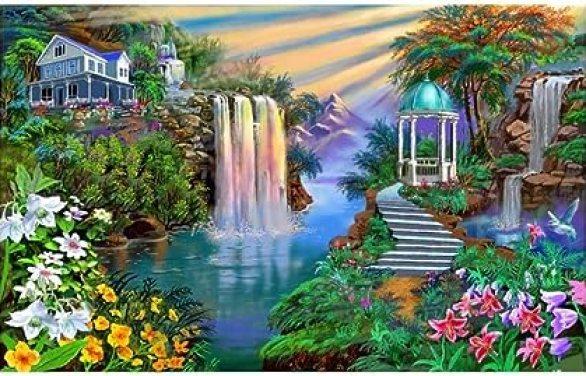 Amazon.com: N/H DIY Children and Adults Digital Toy Painting Beautiful  Landscape Art Artist Home Wall Decoration Landscape Portrait Animal