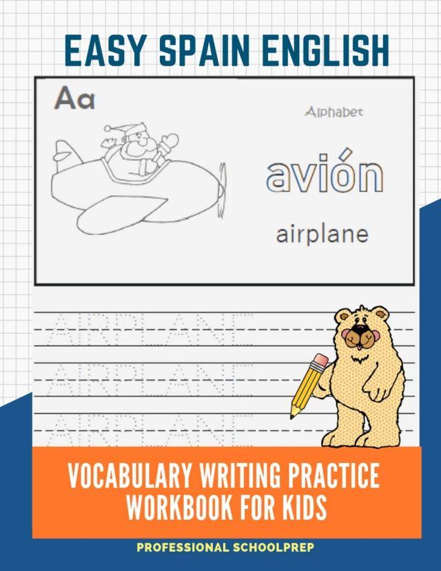 Amazon.com: Easy Spain English Vocabulary Writing Practice