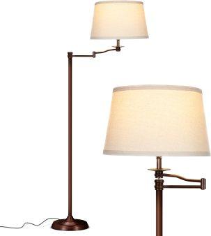 Brightech Caden Swing Arm LED Floor Lamp