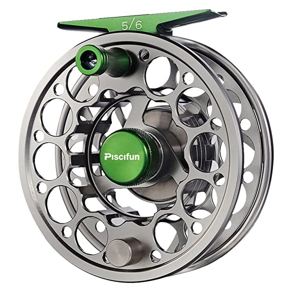 Roll over image to zoom in Piscifun Sword Fly Fishing Reel with CNC-machined Aluminum Alloy Body 3/4, 5/6, 7/8, 9/10 Weights(Black, Gunmetal, Pink, Space Gray)