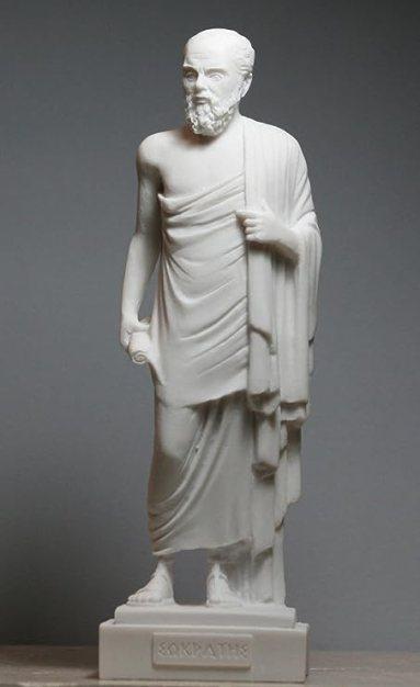 Statua in marmo greco Socrates scultura scultura 24 cm: Amazon.it: Casa e  cucina
