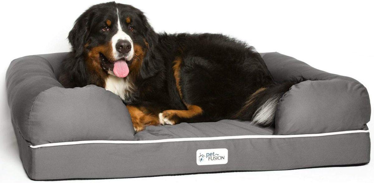 Cama de espuma viscoelástica para perros medianos y grandes, Gris (Slate Grey- X-Large Bed), 112 x 86 x 25 cm