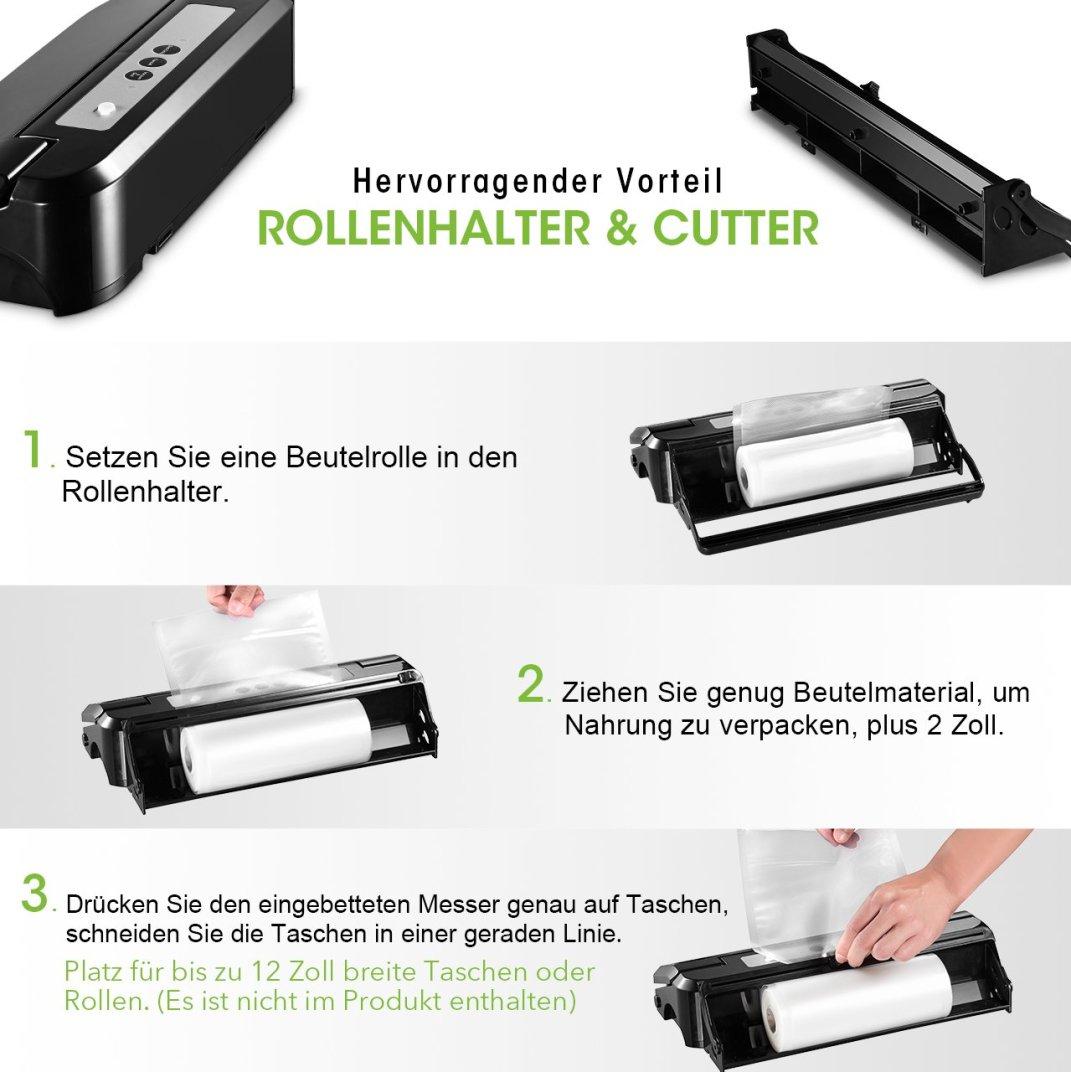 Rollenhalter & Cutter - Pictek Folienschweißgerät Vakuumierer