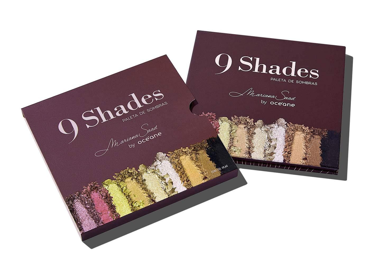 Paletas de Sombras Mariana Saad - 9 Shades, Océane, Única