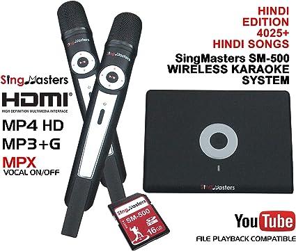 Amazon.com: SingMasters Magic Sing Hindi Karaoke Player,4025 Hindi ...