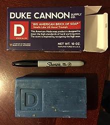 Duke Cannon Men's Bar Soap - 10oz. Big American Brick Of Soap By Duke Cannon - Naval Triumph Customer Image