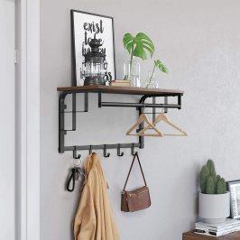 percheros de pared con estante