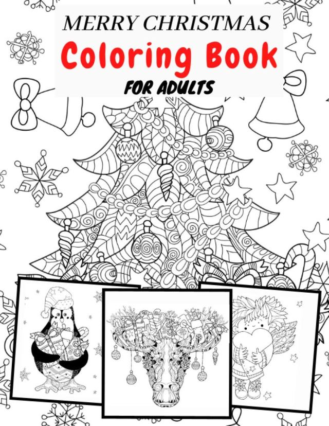 Amazon.com: Merry Christmas Coloring Book for Adults: The Perfect