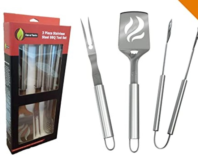 Bbq Grilling Tools Set Heavy Duty 20 Thicker Stainless Steel Professional Grade Barbecue