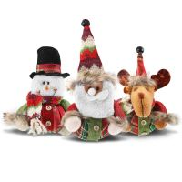 EGOO&YAMEE Handmade Swedish Tomte, Santa - Scandinavian Gnome Plush Figurines - Thanksgiving Gnome Elf Ornaments Home Christmas Decoration - 16 Inches Set of 3