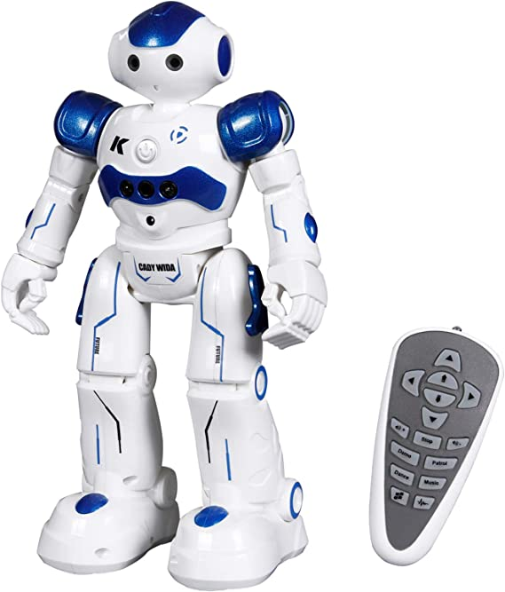 ANTAPRCIS Robot Toy Gifts for Kids - RC Gesture Control Robot Programmable with Infrared Controller and LED Eyes, Birthday Gift for Boys Girls
