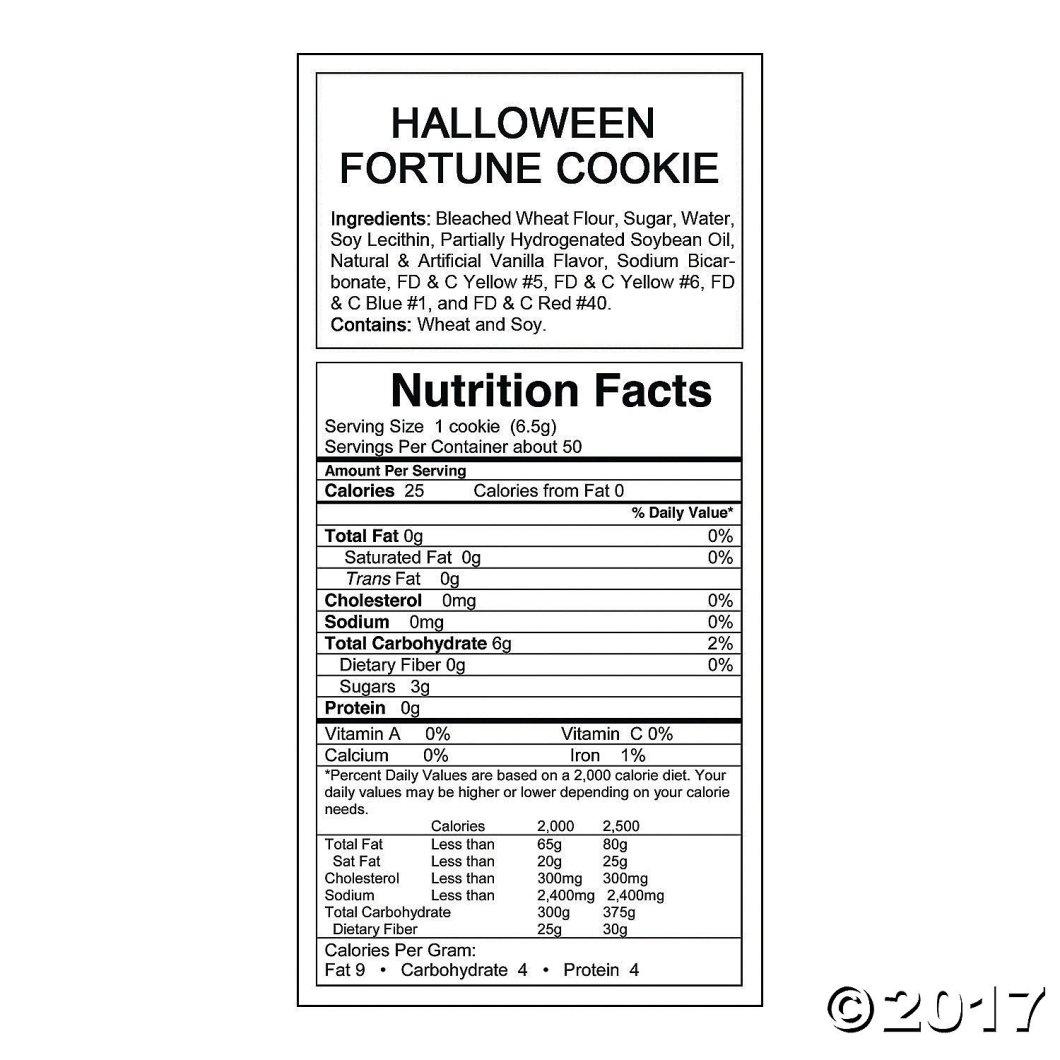 com halloween fortune cookies 50 pcs