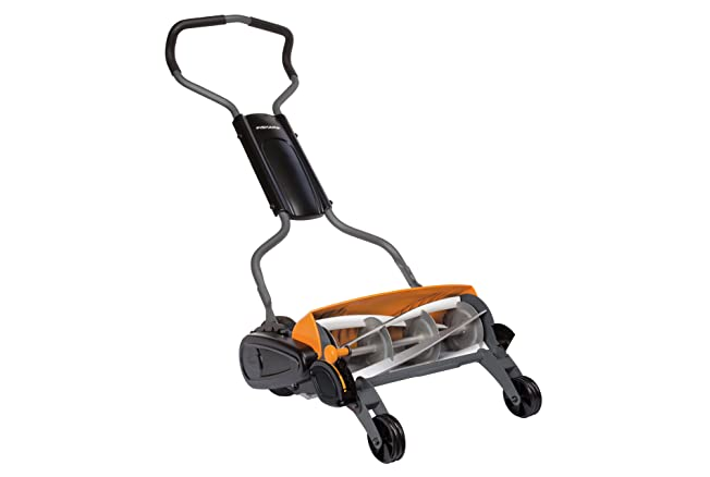 Fiskars Staysharp Max Push Reel Mower, 18-Inch