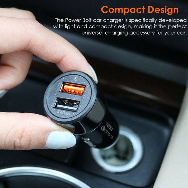 TAGG power bolt dual USB car charger