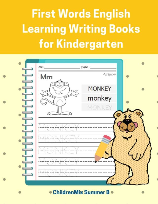 First Words English Learning Writing Books for Kindergarten: Easy