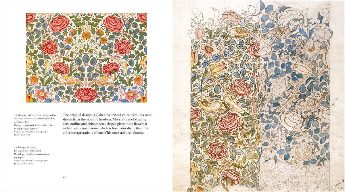 Libros de flores de William Morris.