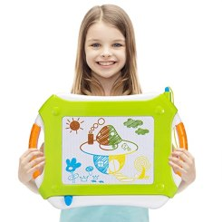 Vamslove Magnetic Drawing Board, Kids Toys Erasable Magna Doodle Pad Colorful Travel Writing Sketching Board - Learning Educational Gifts Toys for Kids Boys Girls Toddlers Age 3 4 5 6 7 + Years Old