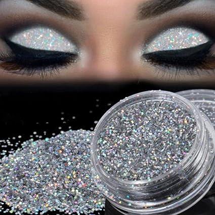 Sparkly Glitter Eyeshadow Xuanou Silver