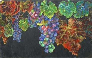 Amazon.com: Original, hand painted unique piece, Floral painting on nature  slate – Grape Vine: Handmade
