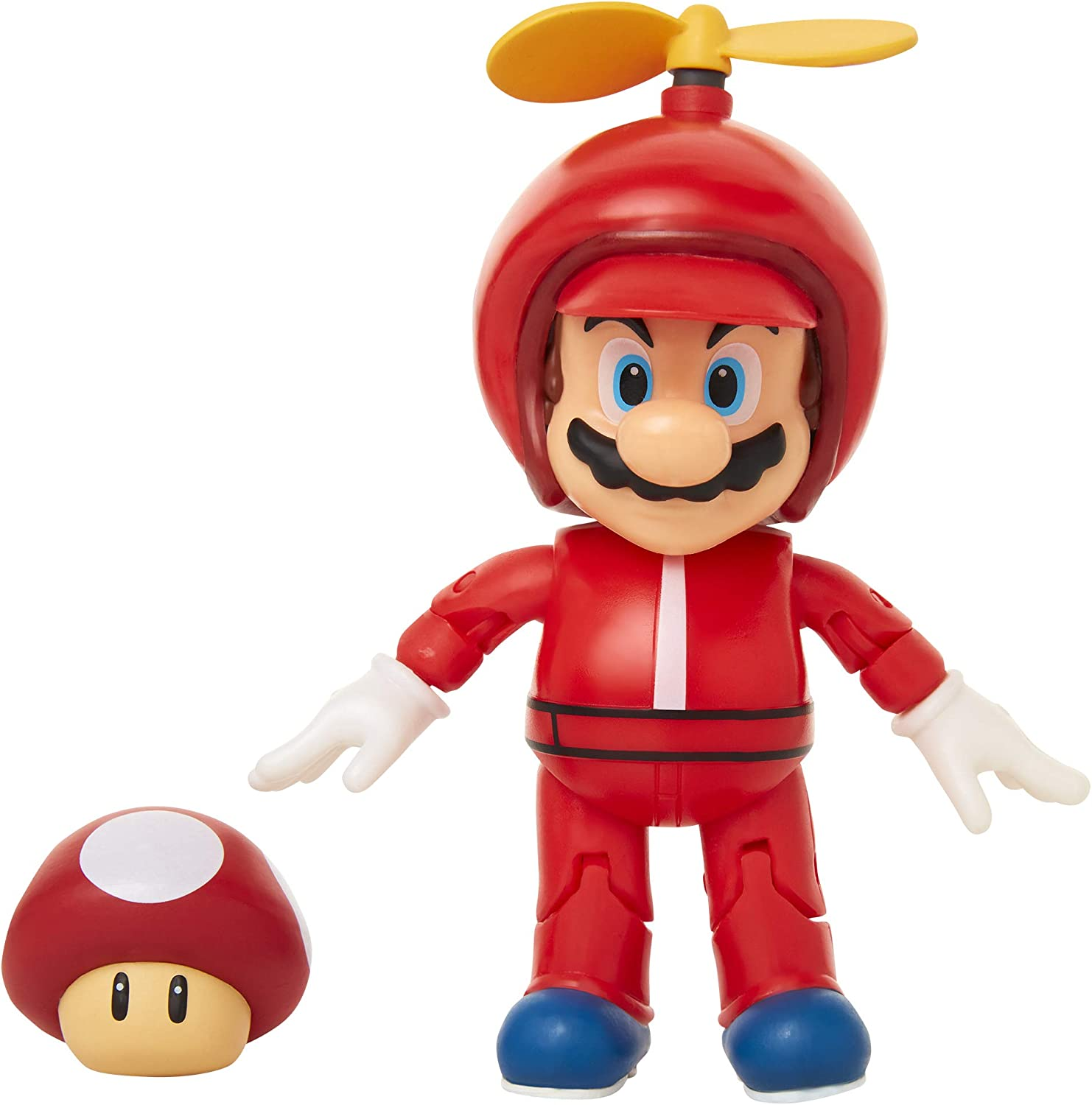 Super Mario 4 Articulated Mario Action Figure With Super Mushroom Toys Games Playsets