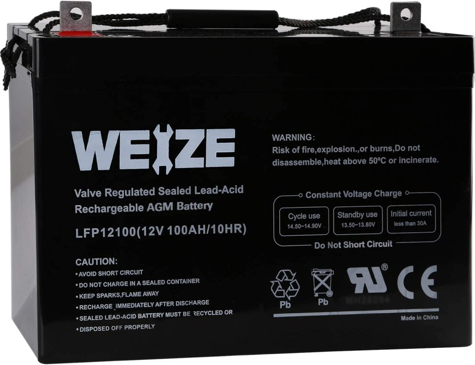 Weize 12V 100AH Deep Cycle Battery