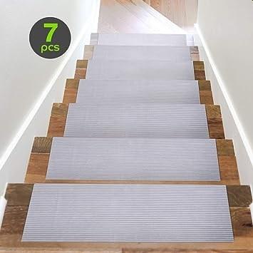 Amazon Com Acrabros Carpet Stair Treads Non Slip 8 7 Inch X 26 | Non Slip Carpet Stair Treads Indoor | Rubber Backing | Decor Rugs | Slip Resistant | Pure Era | Flooring