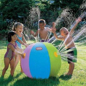 Ιταλικό Amazon | Qiopes Outdoor Inflatable Water Spray Beach Ball Children's Toy Ball Summer Balls and balls