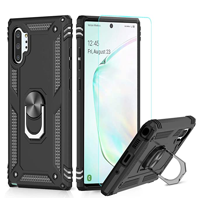 Leyi For Samsung Galaxy Note 10 Plus Case With Magnetic Ring
