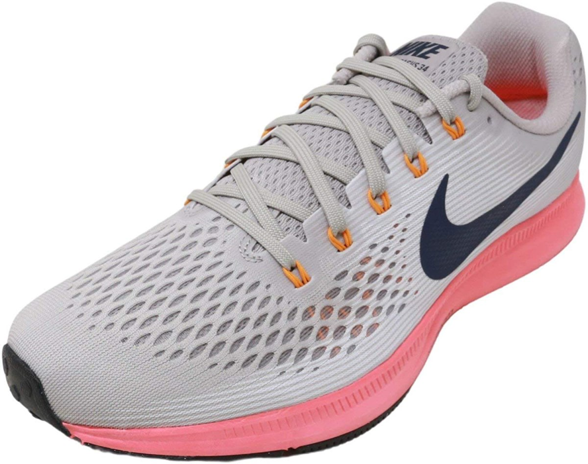 Nike Men's Air Zoom Pegasus 34 Running Shoe, 11, Moon Particle/Blackened Blue
