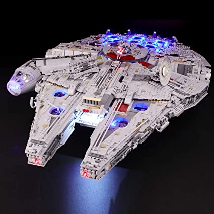 Briksmax Led Lighting Kit For Star Wars Ultimate Millennium Falcon Compatible With Lego 75192 Building Blocks Model Not Include The Lego Set