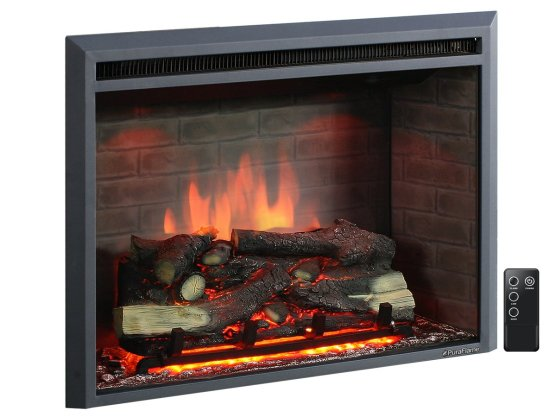 """PuraFlame 33"""" Western Electric Fireplace, Remote Control Black Friday Deals"""