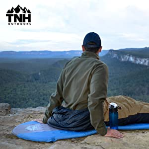 Premium Self Inflating Sleeping Pad Lightweight Foam Padding and Superior Insulation Great For Hiking & Camping Thick Outer Skin