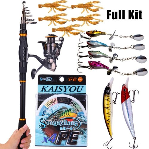 5 best telescopic fishing rod helpful guide 2017 for Best collapsible fishing rod