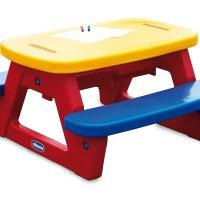 Chicco 30700 - KS Kinder Picknick Tisch mit 2 Bänken und Spieltischmöglichkeit von Chicco