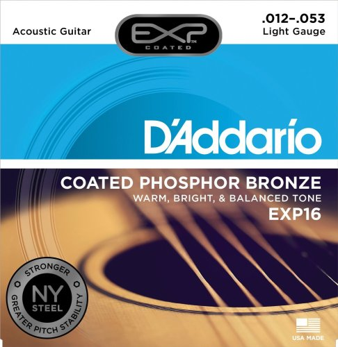 D'Addario EXP with NY Steel Phosphor Bronze Acoustic Guitar Strings