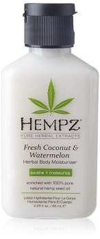 Hempz Herbal Body Moisturizer, Pearl White, Fresh Coconut/Watermelon, 2.25 Ounce