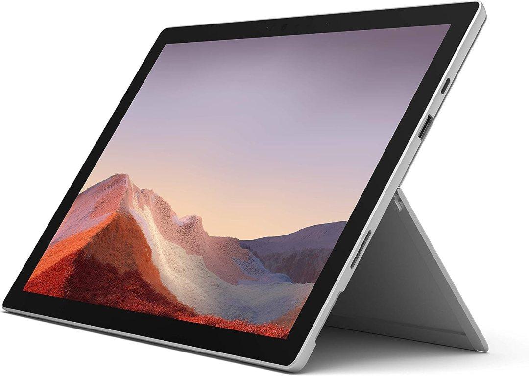 Pack Exclusif Microsoft Surface Pro 7 - PC Hybride (écran 12.3 pouces, Intel Core i5, 8Go de RAM, 128Go de stockage SSD) + Type Cover Noire + Stylet Platine + Souris Platine