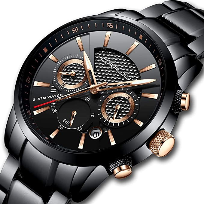 Reloj de pulsera negro para caballerohttps://amzn.to/2C5yM5b