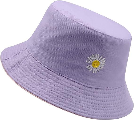 purple cute bucket hat daisy bucket hats amazon