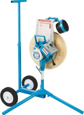 Jug softball pitching machine with cart