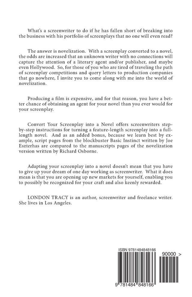 Script To Novel Turn Your Screenplay Into A London Tracy. Script Query Letter ...