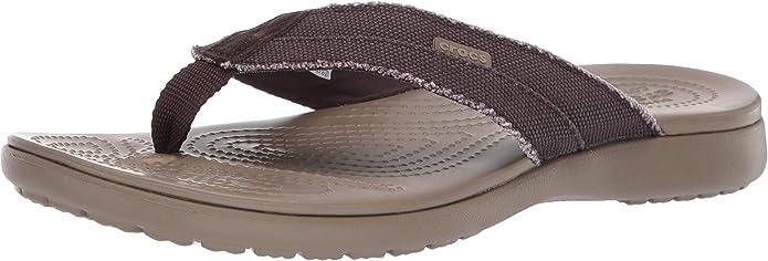 Crocs Santa Cruz Canvas Flip M, Zapatos de Playa y Piscina para Hombre